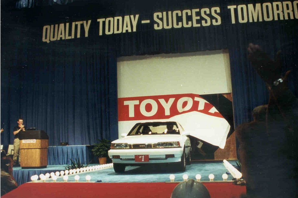 Toyota Camry that was the first vehicle produced at TMMK
