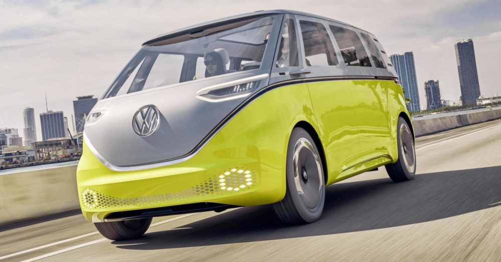 VW's upcoming electric microbus, the ID.Buzz