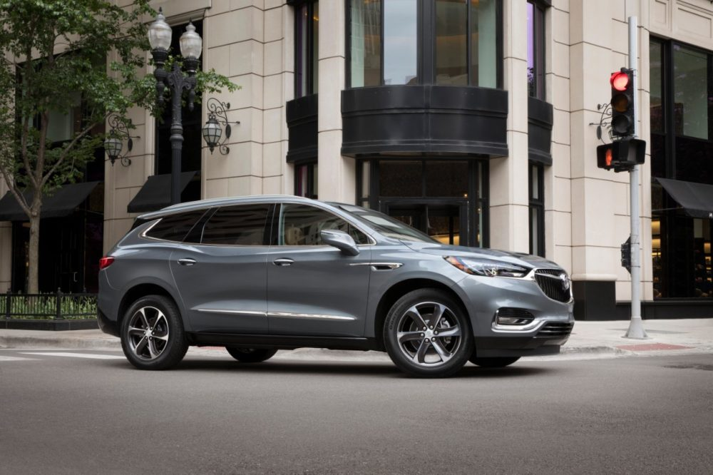 The 2021 Buick Enclave in the middle of an intersection