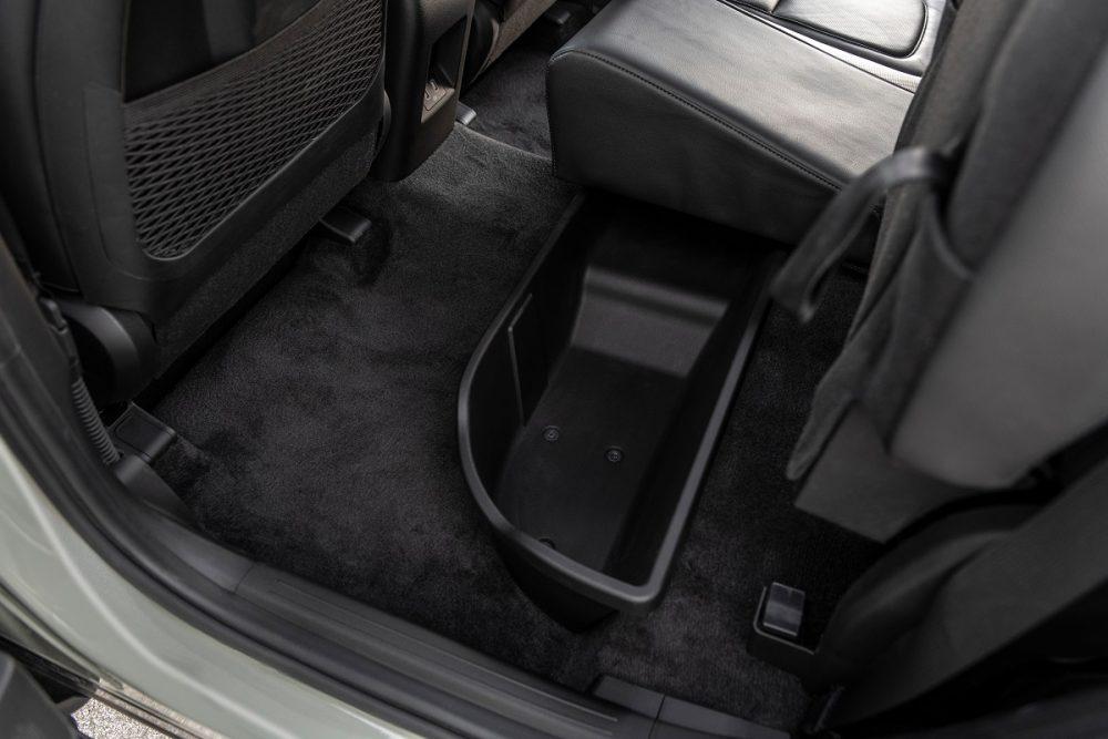 Second-row underseat storage for 2022 Hyundai Santa Cruz