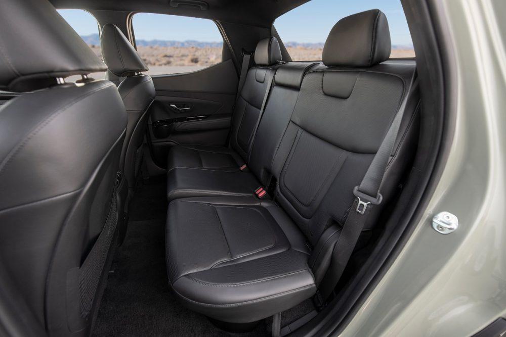 Rear seats of 2022 Hyundai Santa Cruz