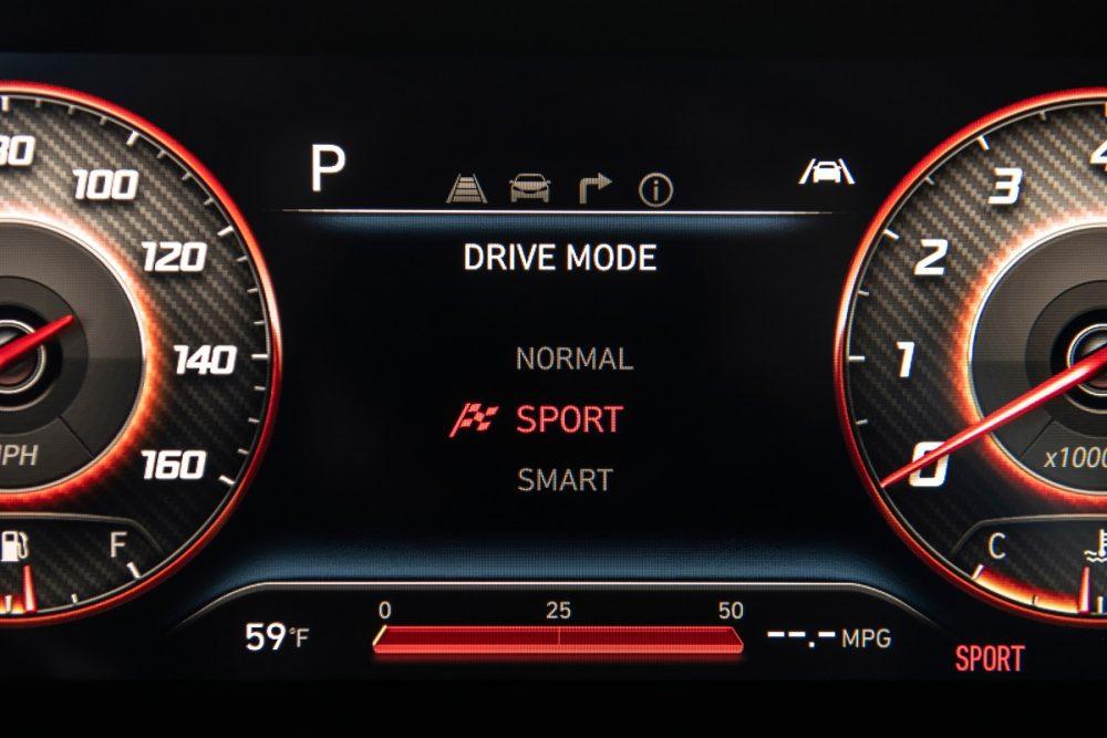 2022 Hyundai Santa Cruz digital instrument cluster