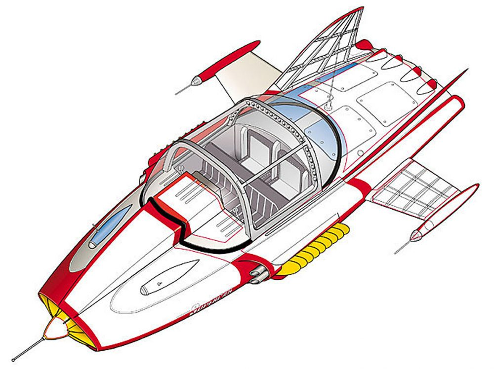 An illustration of the Supercar
