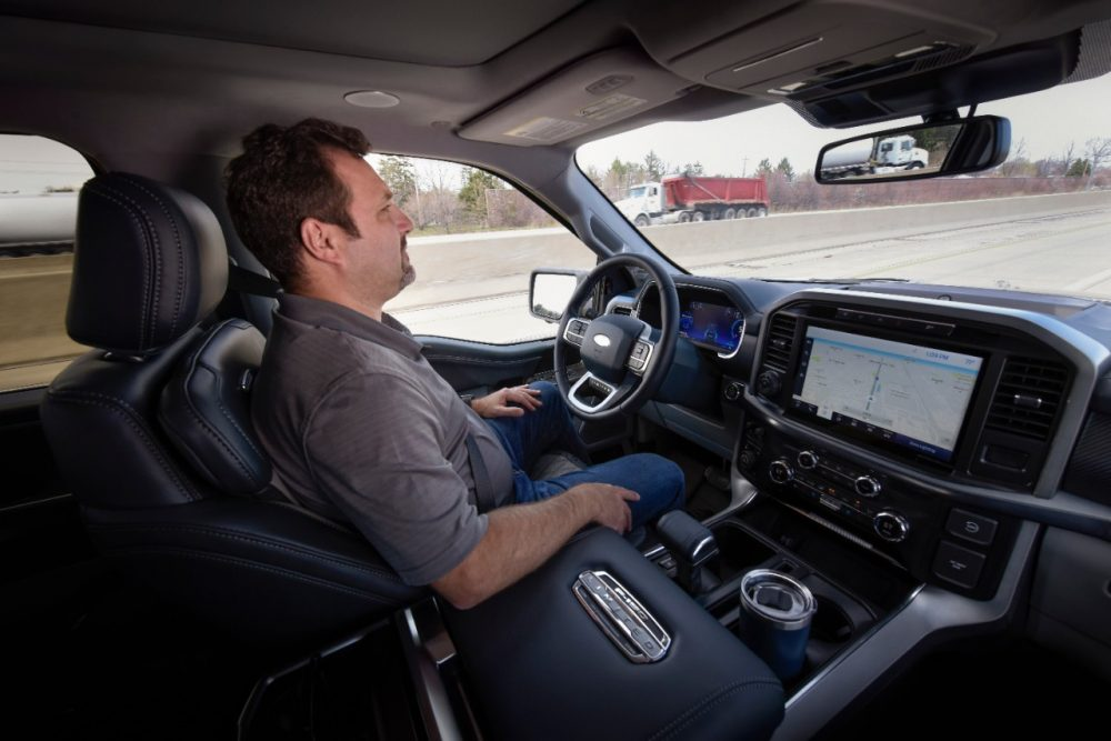 BlueCruise offers hands-free driving in properly equipped 2021 Ford F-150s
