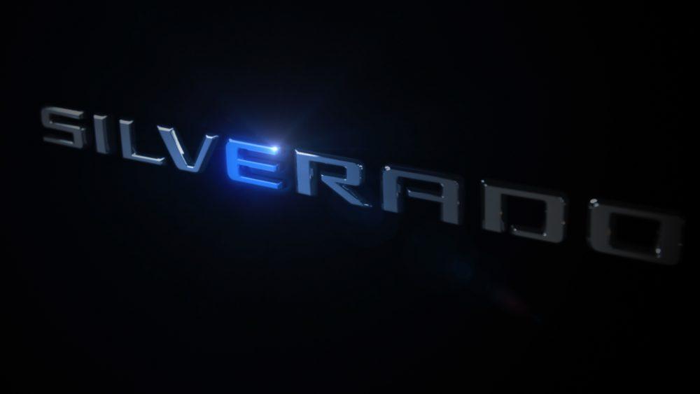 Electric Chevrolet Silverado Teaser