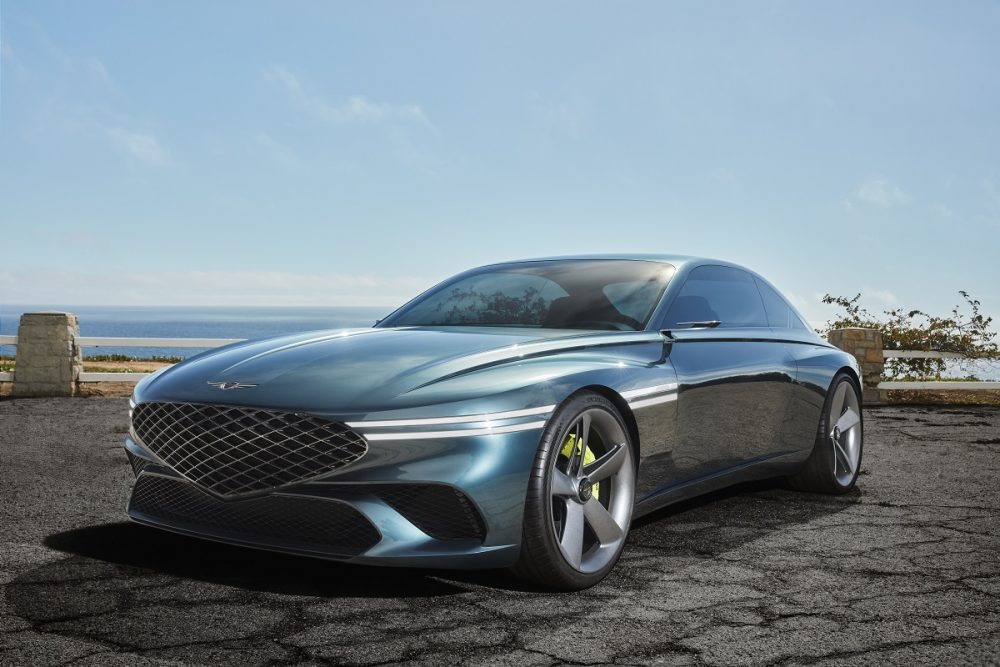 Front side view of Genesis X Concept