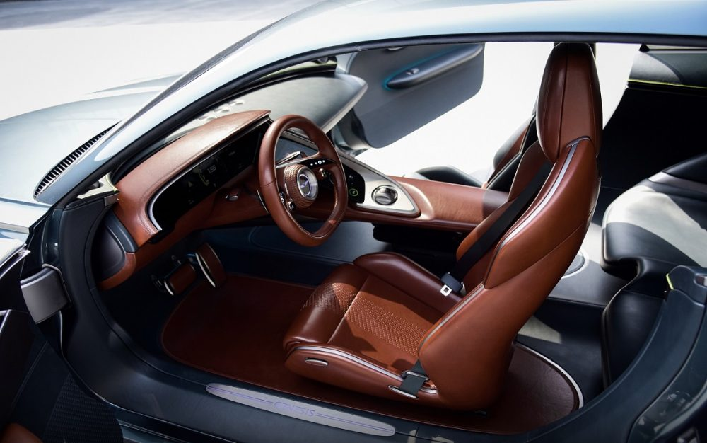 Genesis X Concept driver's seat and steering wheel