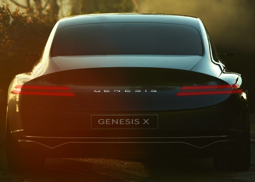 Rear view of Genesis X Concept