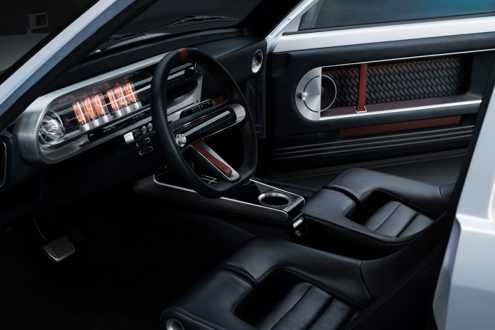 Hyundai Heritage Series Pony concept front seats, dash, and steering wheel