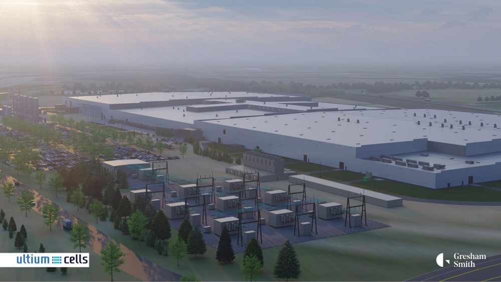 A conceptual rendering of the Ultium plant in Spring Hill, Tennessee