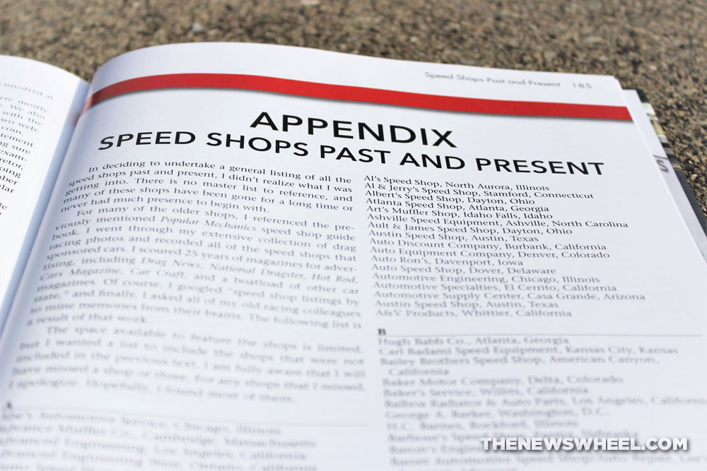 The American Speed Shop book review Bob McClurg Cartech Books appendix on store locations