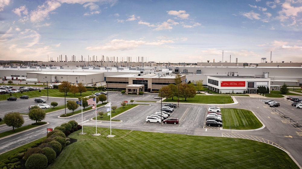 Toyota Motor Manufacturing Indiana (front drone shot)