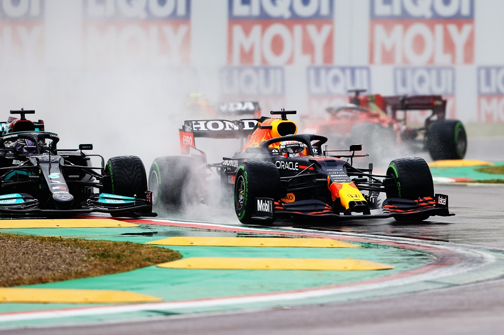 Verstappen leads Hamilton at 2021 Emilia Romagna Grand Prix