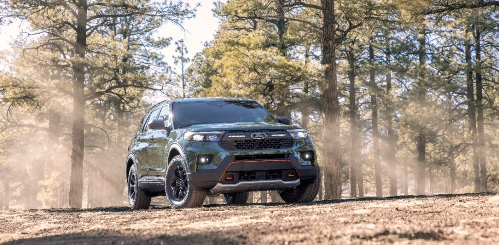 2021 Ford Explorer Timberline in the woods