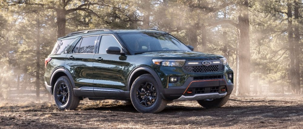 2021 Ford Explorer Timberline on the trail