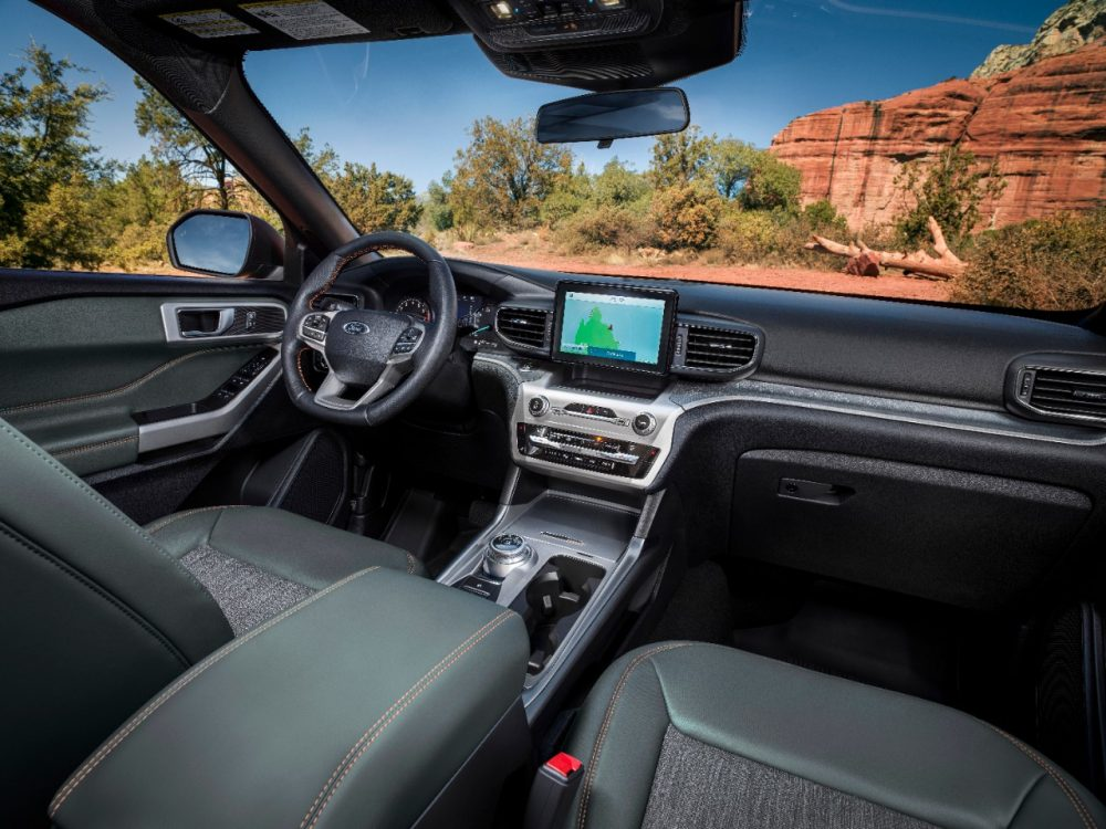 2021 Ford Explorer Timberline front row dash