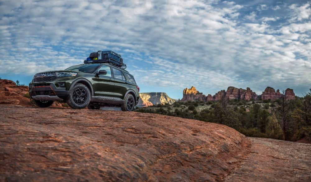 2021 Ford Explorer Timberline on a hill