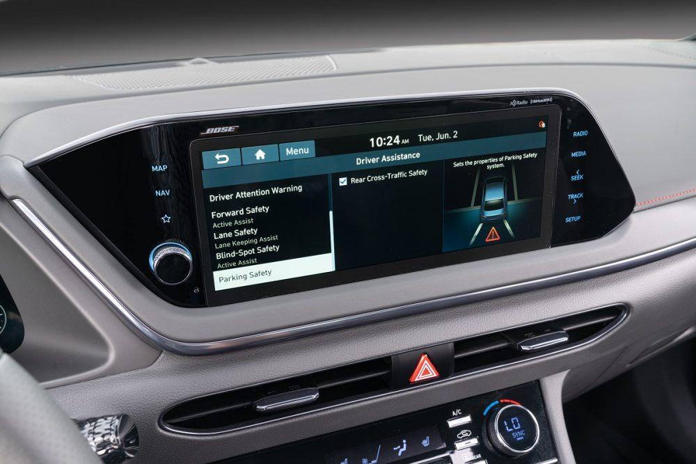 2021 Hyundai Sonata N Line touch screen