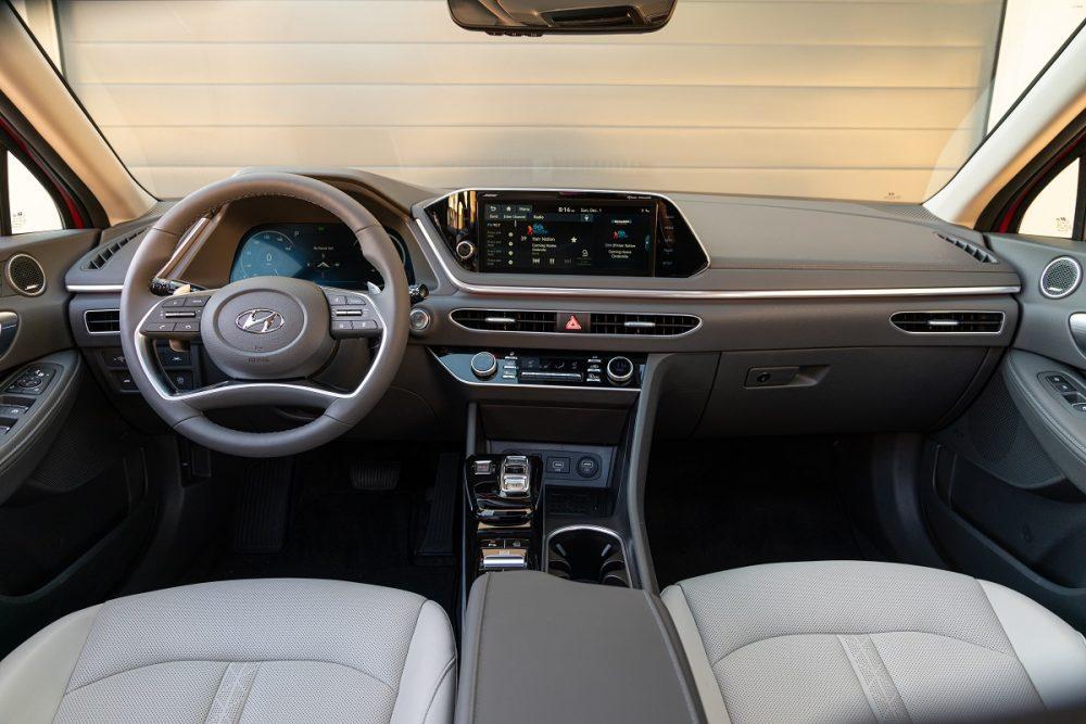 2021 Hyundai Sonata front seats, dash, and steering wheel