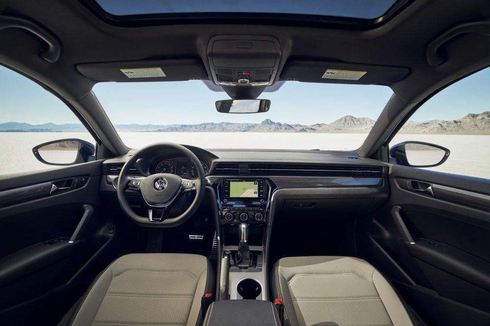 Full interior shot of 2021 Volkswagen Passat front seat