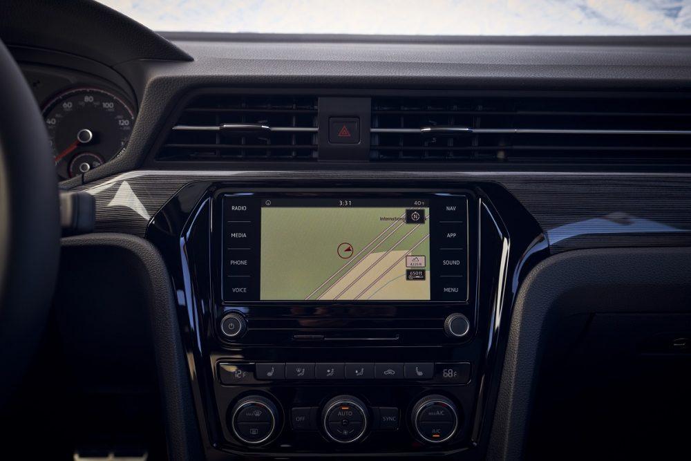 2021 Volkswagen Passat infotainment screen in dash