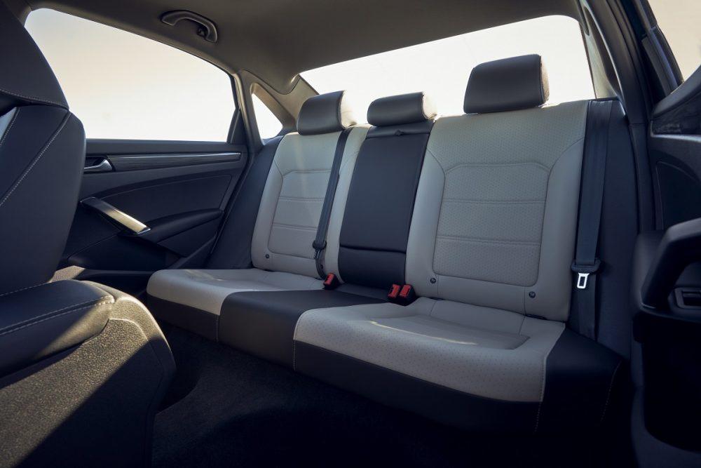 Back seat of 2021 Volkswagen Passat