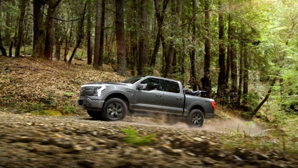 2022 Ford F-150 Lightning Lariat with four-wheel drive