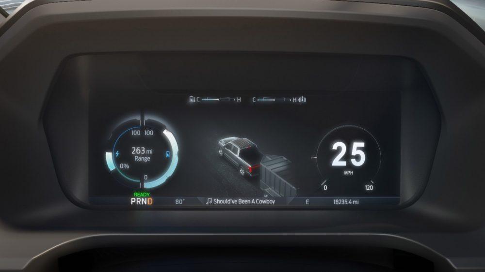 2022 Ford F-150 Lightning Lariat 12-inch digital display