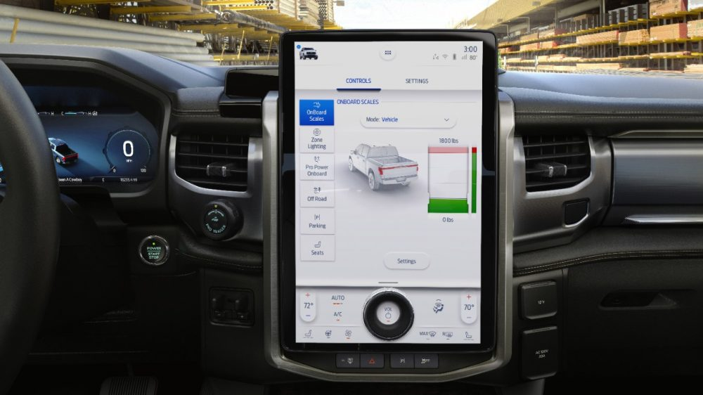 2022 Ford F-150 Lightning Lariat Onboard Scales SYNC 4A