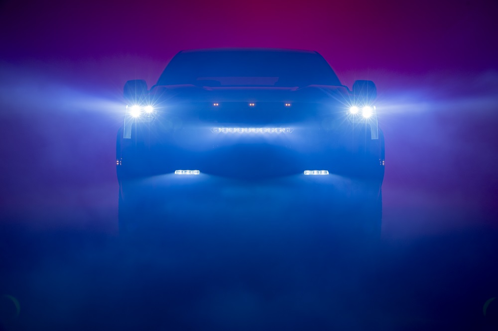 Teaser image of the next-gen Toyota Tundra