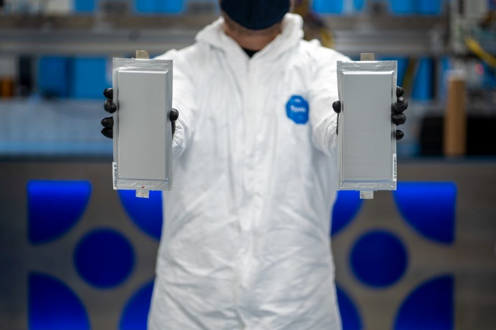 a pair of solid-state batteries produced by Solid Power, a company in which Ford and BMW are equal equity investors