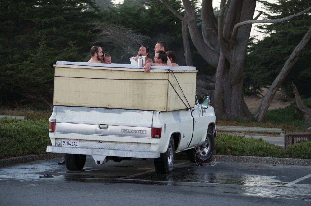 pickup truck bed tub pool water modification