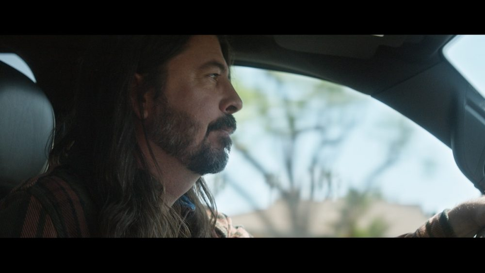 """Foo Fighters' Dave Grohl driving in the """"Spotlight"""" campaign"""
