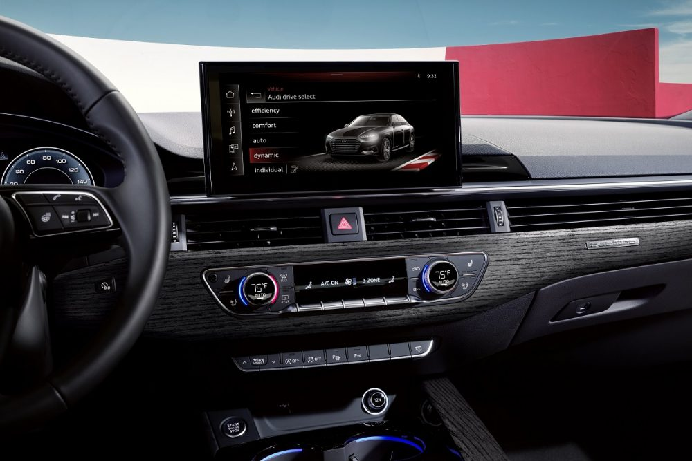 2020 Audi A5 Coupe interior infotainment dashboard close-up