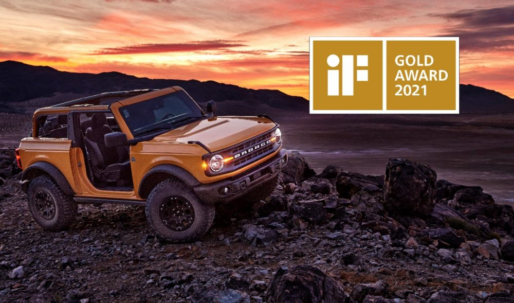2021 Ford Bronco wins iF Gold Award 2021 for design