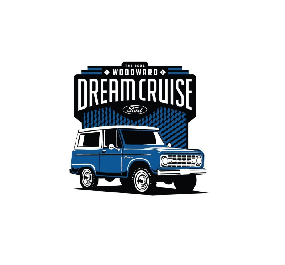 2021 Woodward Dream Cruise logo with 1966 Ford Bronco
