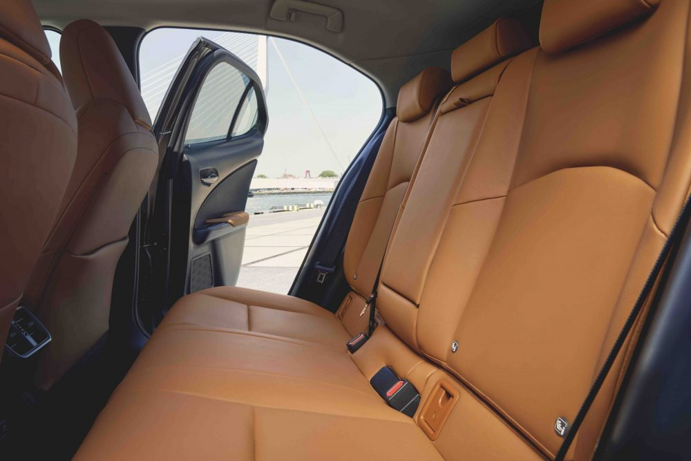 2021 Lexus UX rear seats