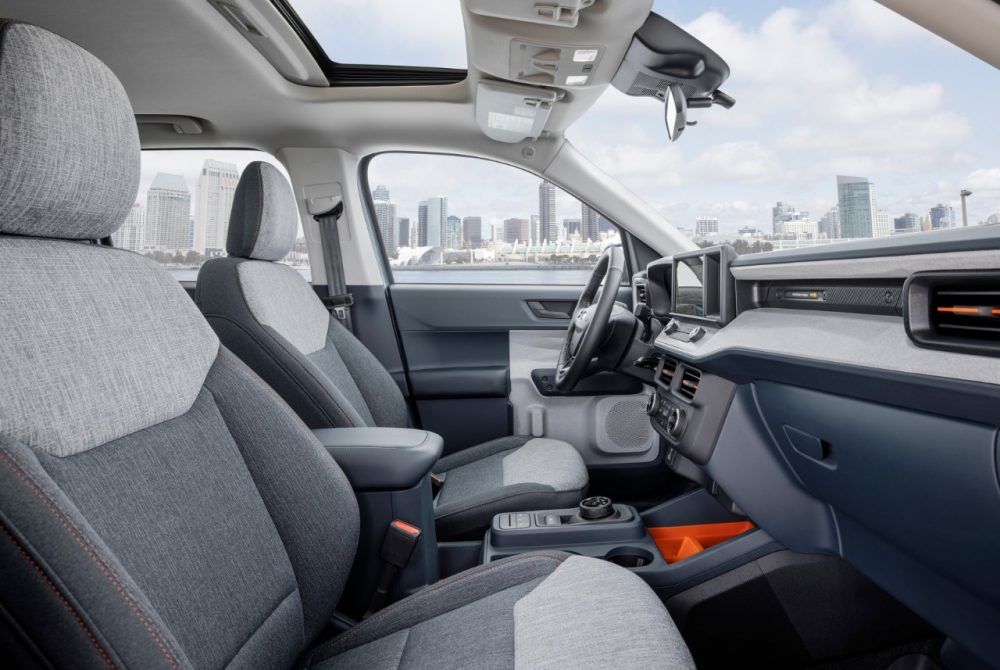 2022 Ford Maverick XLT with 2.5-liter Atkinson-cycle hybrid Navy Pier interior