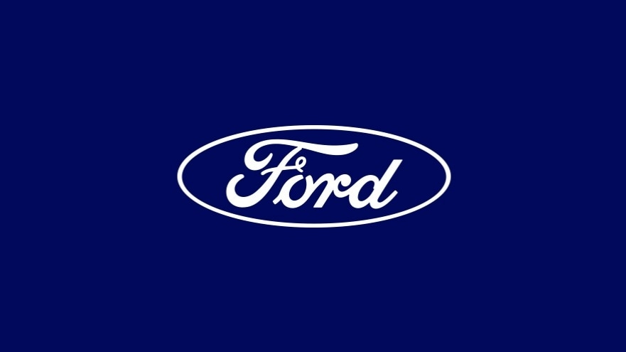 Ford logo white lettering on blue background | Ford Donates $250K to NACME for STEM Program
