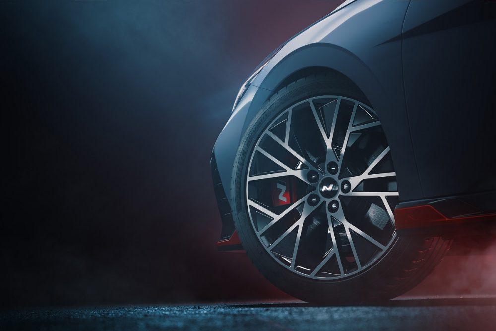 Close-up of Hyundai Elantra N wheel design