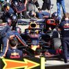 Red Bull Racing practicing pit stops during 2019 pre-season
