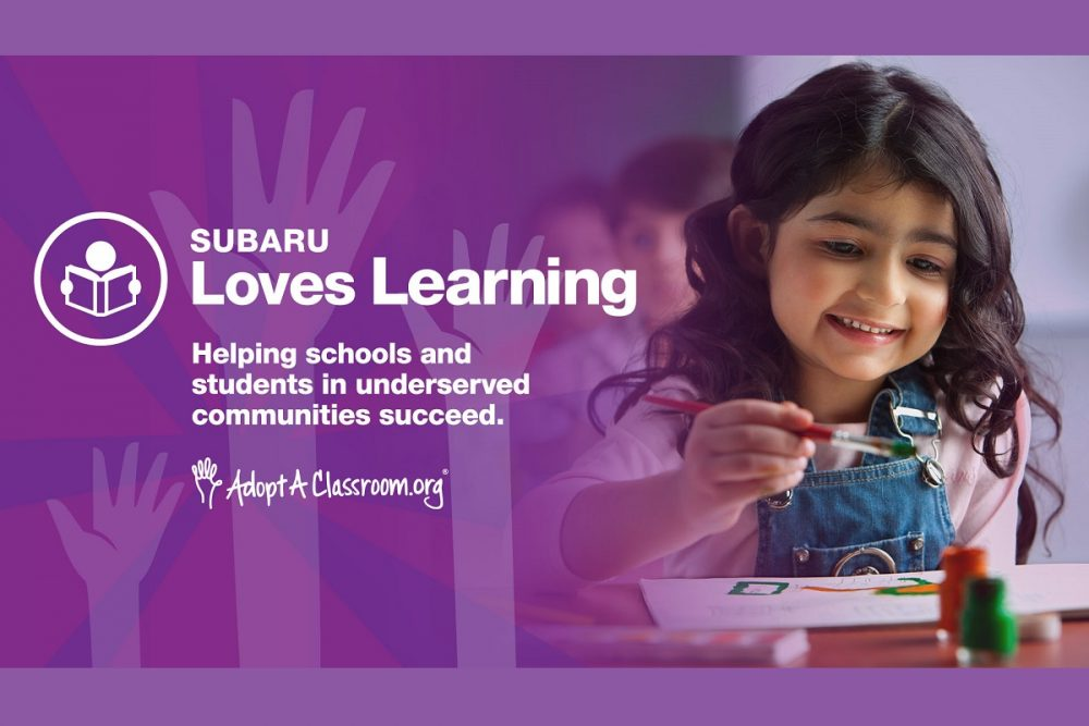Subaru Loves Learning young girl painting in a classroom