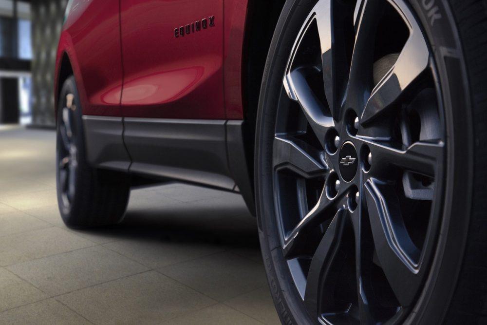 Gros plan de la roue Chevrolet Equinox 2022