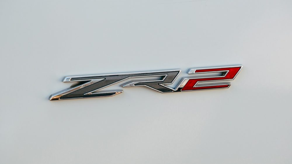 Chevrolet off-road ZR2 badge on white background