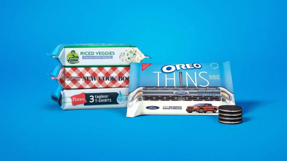 Oreo Thins Protection Program Packaging Green Giant BHG Hanes Ford