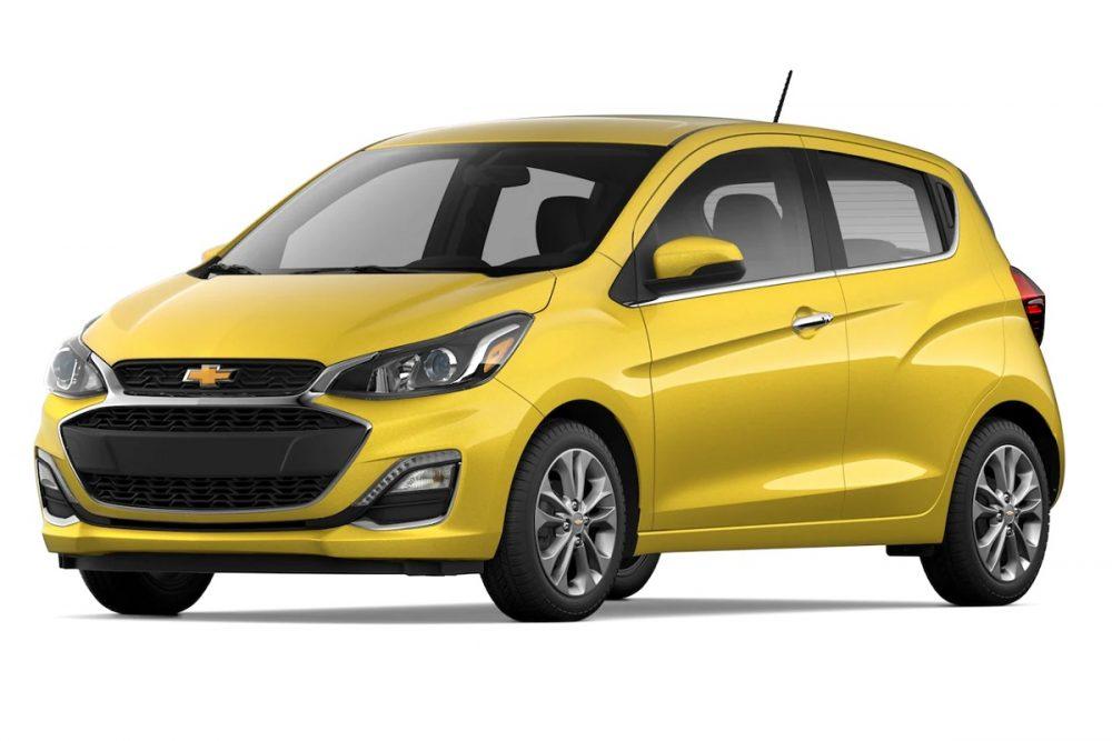 A Nitro Yellow 2022 Chevrolet Spark