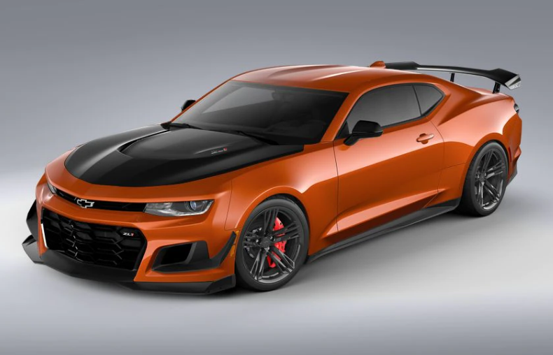 Vivid Orange 2022 Chevrolet Camaro Coupe with the ZL1 Extreme Track Performance Package