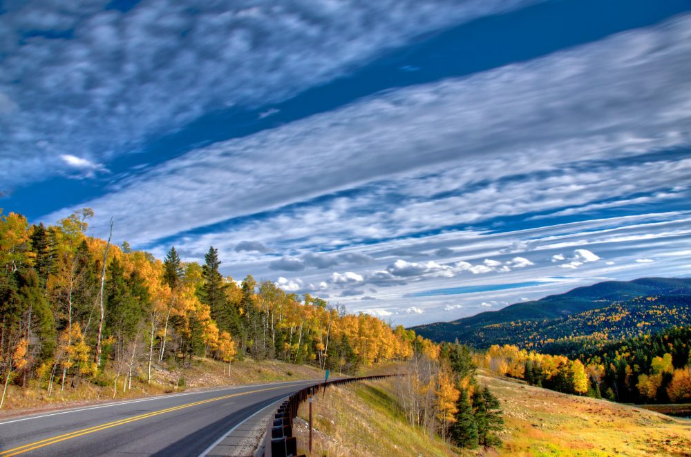 View from the Enchanted Circle , Taos, New Mexico, in the fall