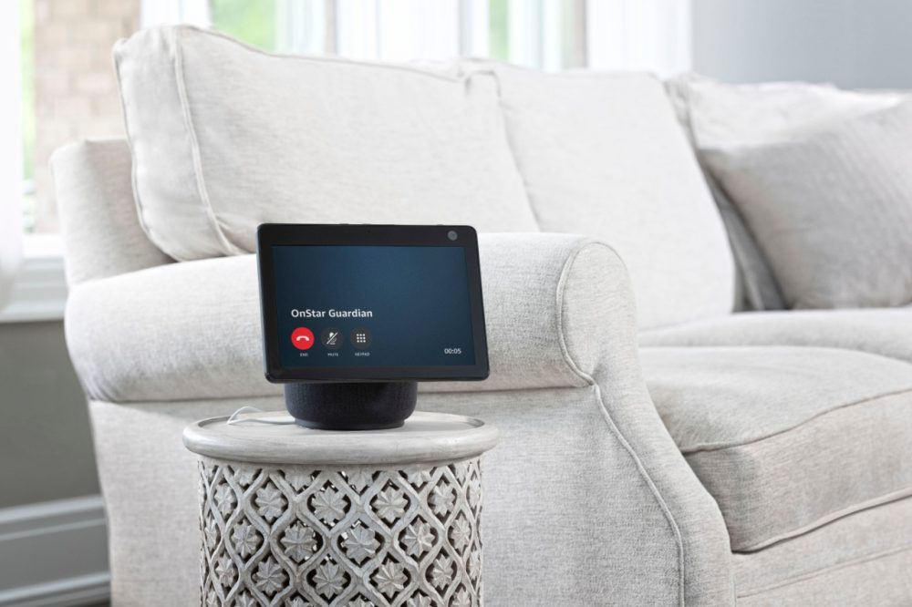 The OnStar Guardian skill for Amazon Alexa on an Alexa device in a living room