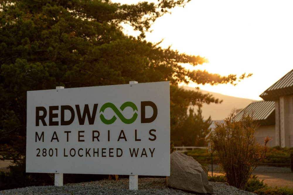 Redwood Materials sign
